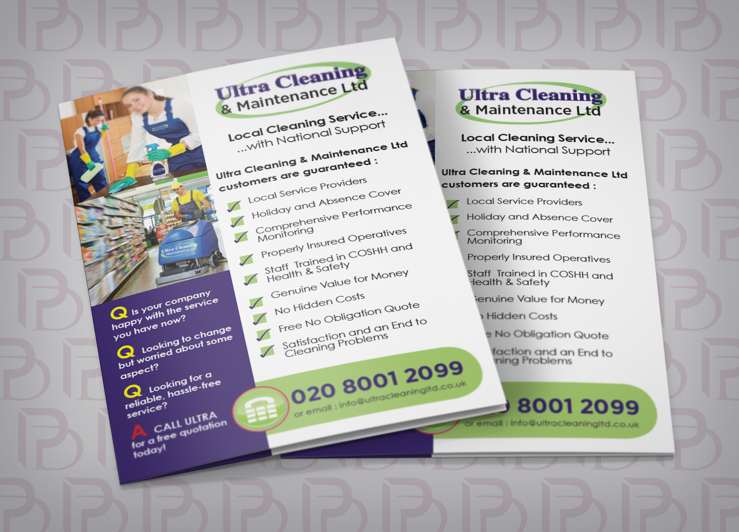 cleaning services leaflets